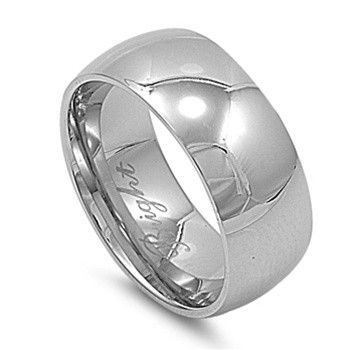 Stainless Steel Ring - Wedding Band - Comfort Fit
