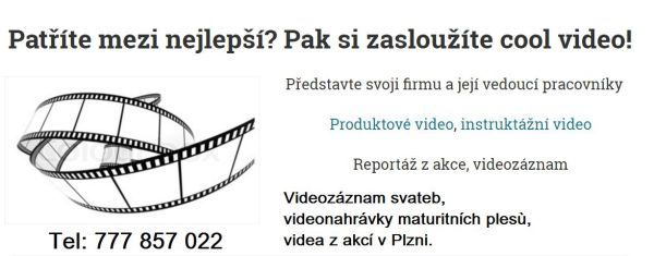 Videozáznam svateb, videonahrávky maturitních plesů, videa z akcí v Plzni.