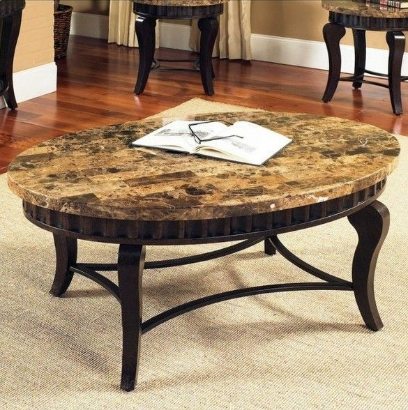 round granite top coffee table living room ideas pinterest granite coffee table granite. Black Bedroom Furniture Sets. Home Design Ideas