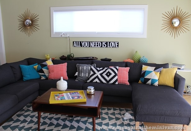 Target Living Room : Living Room with IKEA sofa, Urban Outfitters rug and ...