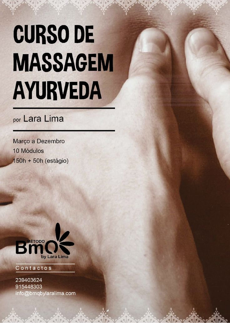 Curso de Massagem Ayurveda