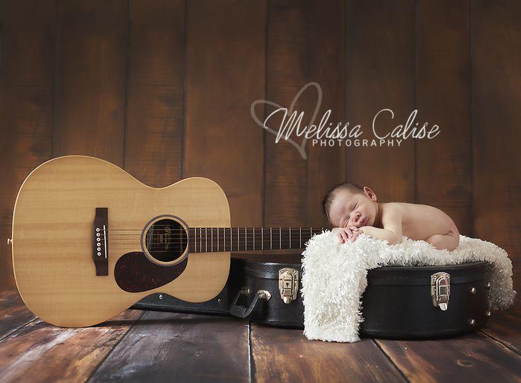 Melissa Calise Photography (Newborn Baby Boy Guitar Case Posing Ideas Photo Shoot)