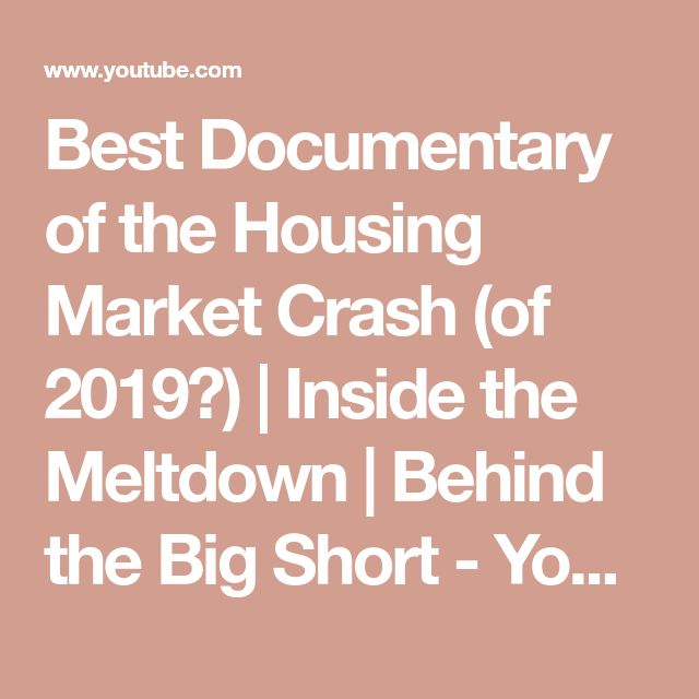 Best Documentary of the Housing Market Crash (of 2019