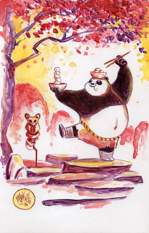 A little Kung Fu Panda fan art. Rewatched the first two movies over the weekend with my son (both still great). Gonna try to catch the new one with him later this week.Original available here.