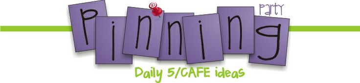 Teaching Blog Addict: Literacy CAFE Pinterest Finds