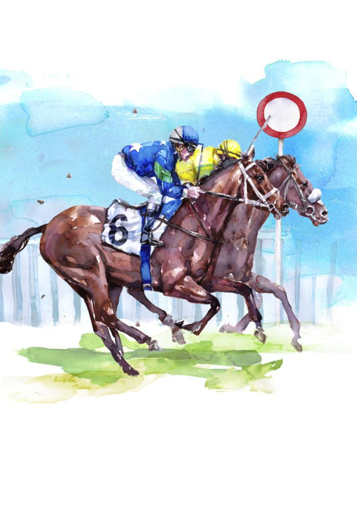 Harrison Ripley - Horse Race Finishing Post Copy Copy