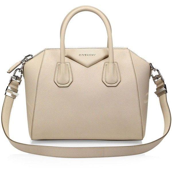 Givenchy Antigona Small Leather Satchel ($2,290) ❤ liked on Polyvore featuring bags, handbags, purses, accessories, bolsas, pink leather handbags, crossbody purses, leather satchel, cross-body handbag and satchel handbags