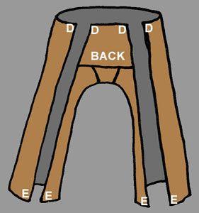 Zelf een broek maken? Dat kan! Zorg wel dat je een passende stof hebt, bijvoorbeeld ruw linnen.