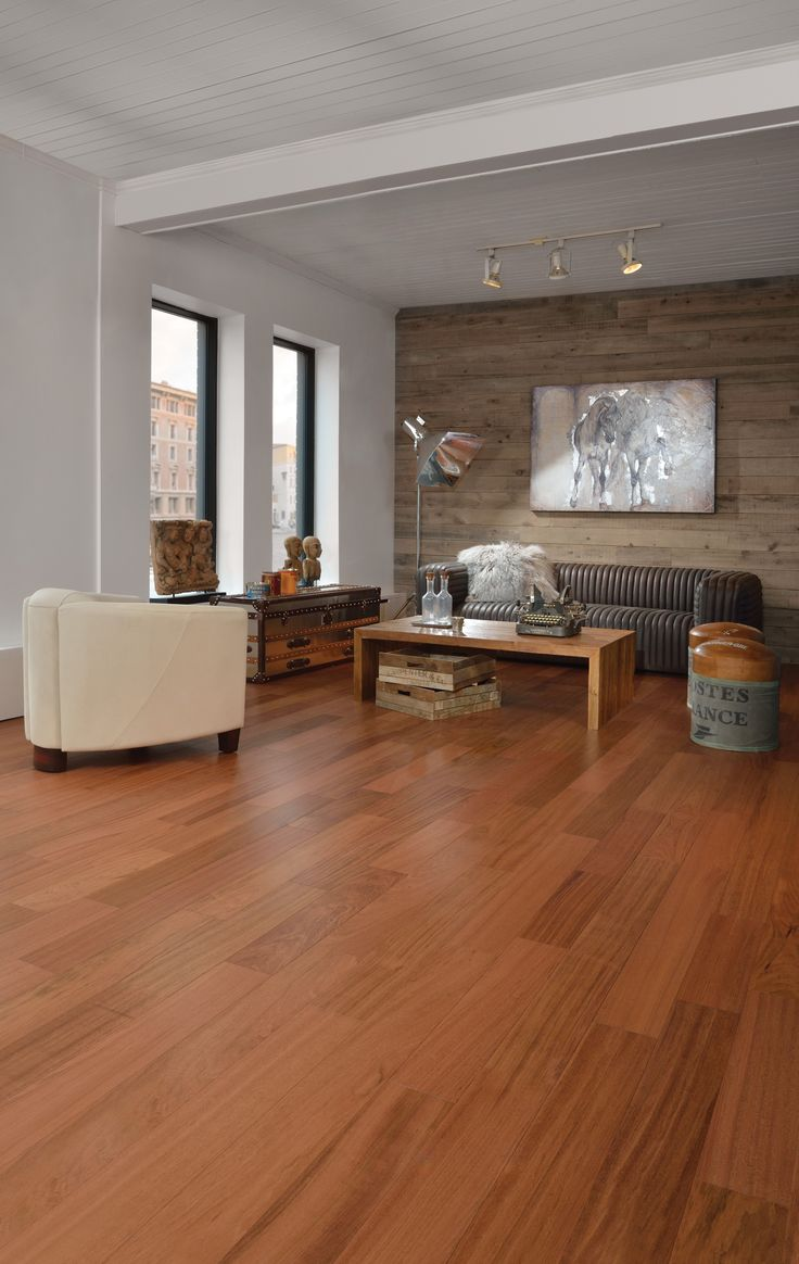 Cerisier Bois Franc : Brazilian Cherry Hardwood Floor Room