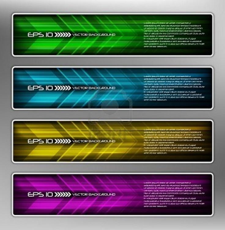 vector abstract web banner, creative design Stock Photo