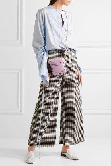 Manu Atelier - Pristine Micro Leather Shoulder Bag - Purple - one size