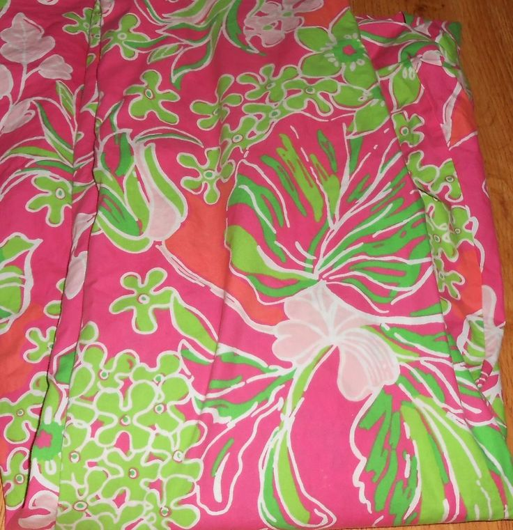 Lilly Pulitzer For Garnet Hill Luscious Twin Duvet Cover Pink Green Floral  #LillyPulitzer