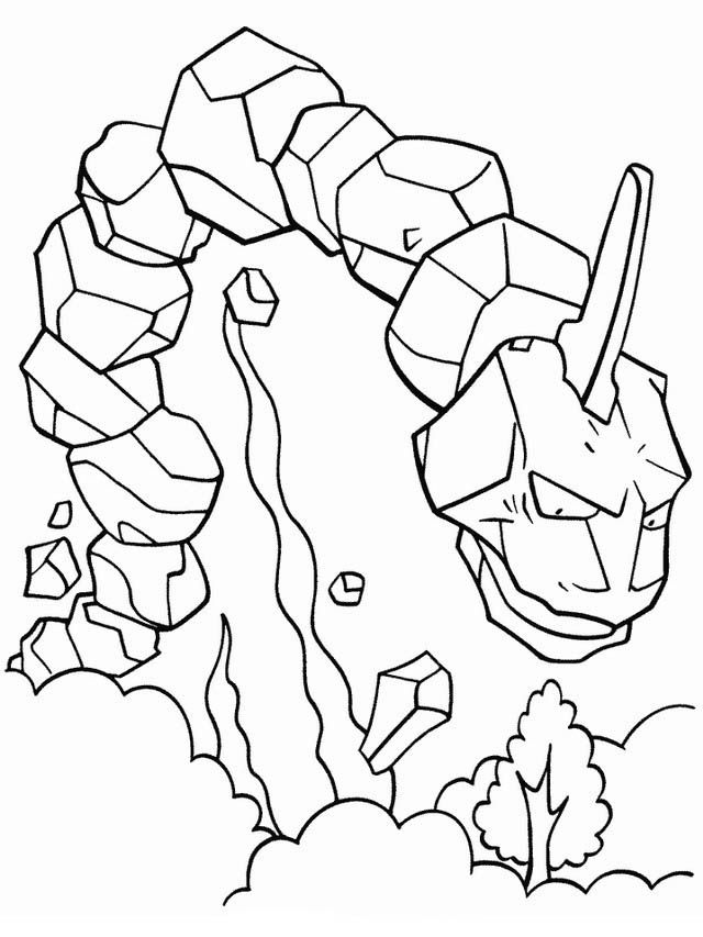 onyx mega evolution coloring pages - photo#1