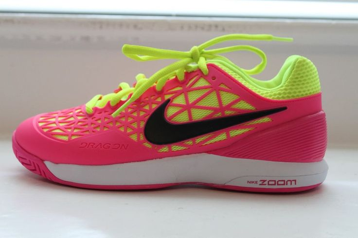 Nike Women's Zoom Cage 2 Tennis Court Shoes Pink Yellow MSRP $140 7.5 8 NEW #Nike