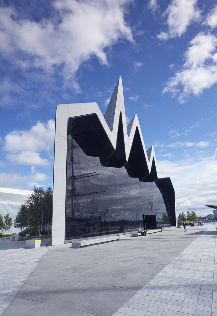 Zaha Hadid Modern Architecture The Riverside Museum, an addition to the Glasgow Museum of Transport in Scotland, cuts a striking figure with its zigzagging zinc-clad roof.