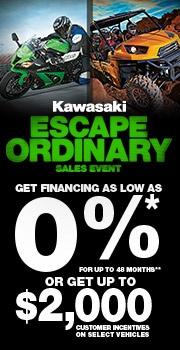 Kawasaki KLR 650 dual purpose sport bike 2012 Escape Ordinary Sales Event