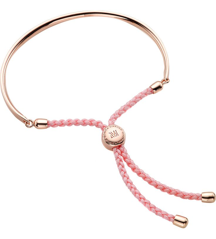 MONICA VINADER Fiji 18ct rose gold-plated friendship bracelet, very simple but great to go with casual outfits for the daytime.