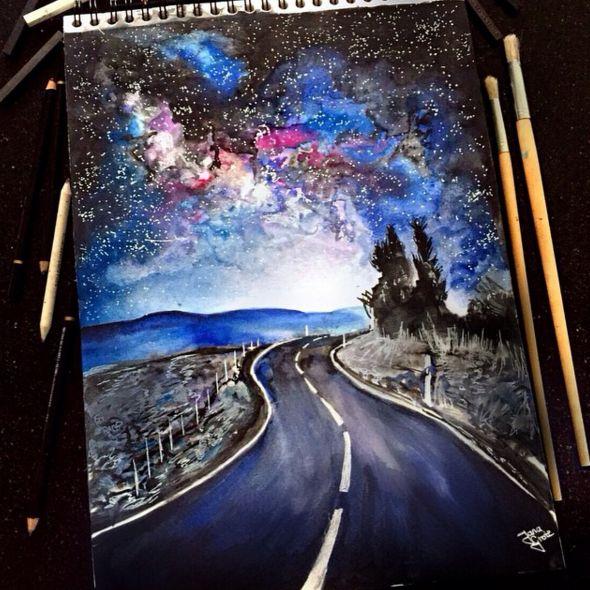 Watercolor Pencil Art Artist Jana Grote