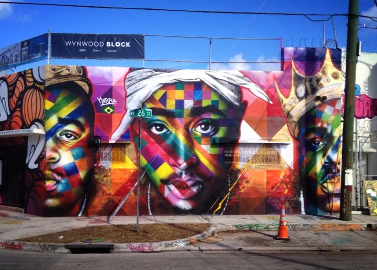 Biggie and 2pac mural masterpieces at art basel in miami for 2pac mural new york