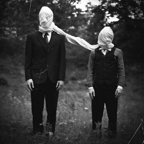 Bryan Durushia, mysterious surreal portraits of faceless men - ego-alterego.com: