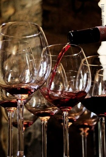 In Victorian times, people had either RED WINE or champagne (if you want to be super classy) with their dinner.