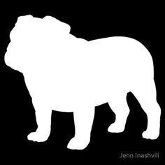 stencil of english bulldog - Google Search