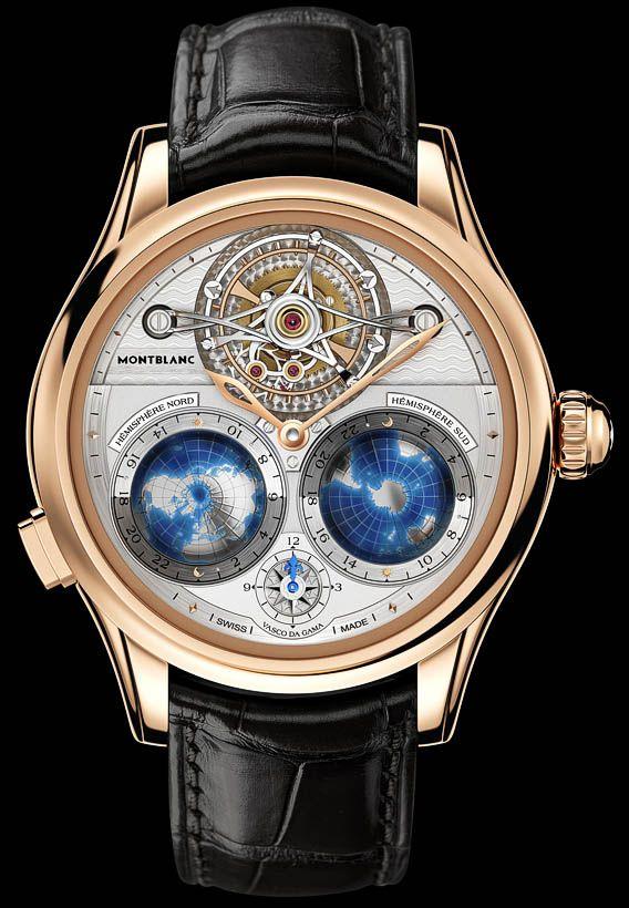 La Cote des Montres : La montre Montblanc Collection Villeret Tourbillon Cylindrique Geosphères Vasco da Gama - Un voyage dans les territoires inexplorés du monde horloger