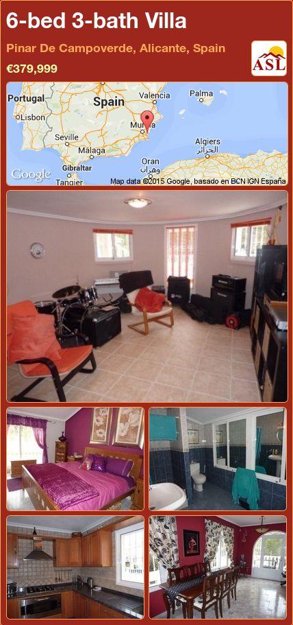 6-bed 3-bath Villa in Pinar De Campoverde, Alicante, Spain ►€379,999 #PropertyForSaleInSpain