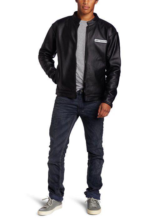 Sons of Anarchy Men's Leather Speedster Jacket, Black, Medium