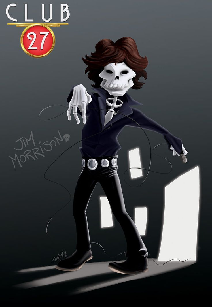 Club 27 Jim Morrison, digital paint