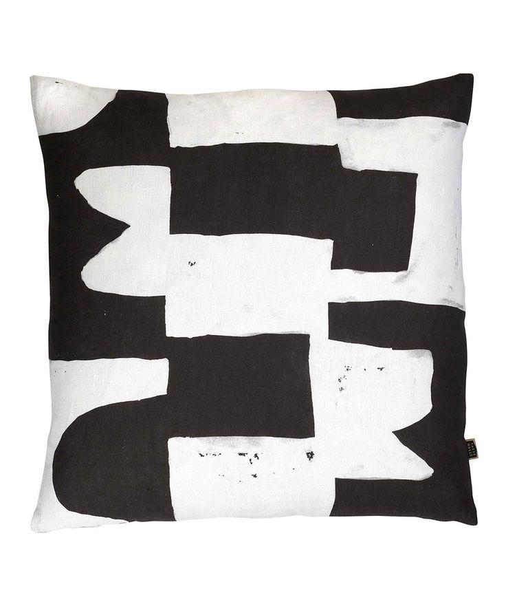 Block Black Cushion.   http://www.huntingforgeorge.com
