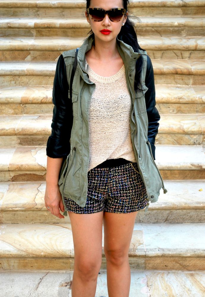 XOXO, Project RTW  http://www.projectrtw.com/product/rue-cambon-tweed-shorts