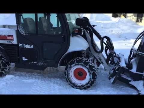 Bobcat Toolcat 5600 High Flow w/ SB240 Snowblower - YouTube