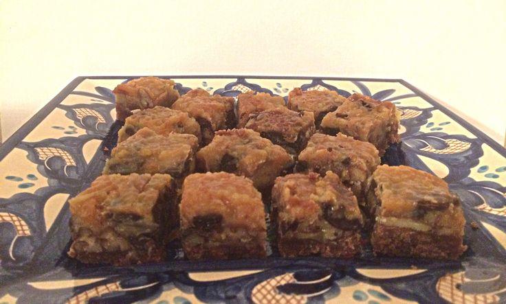 Salted Caramel, Chocolate & Pecan Squares