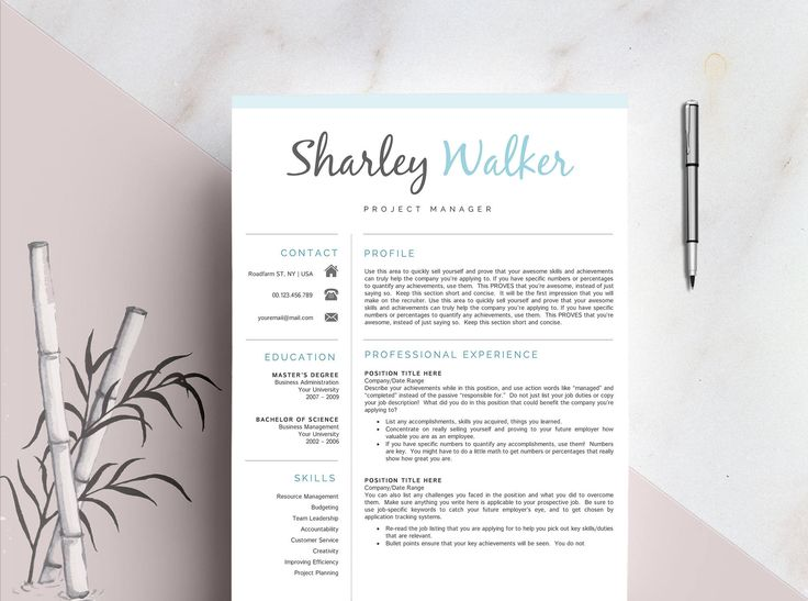 23 best Resume Template + Cover Letter Professional \ Modern - 3 page resume
