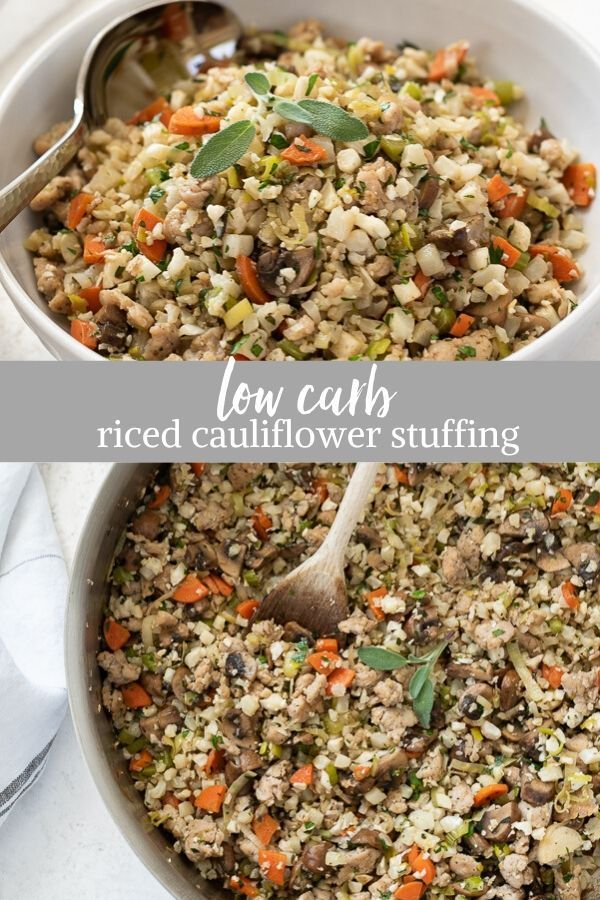 Low Carb Riced Cauliflower Stuffing Is An Easy Keto Stuffing