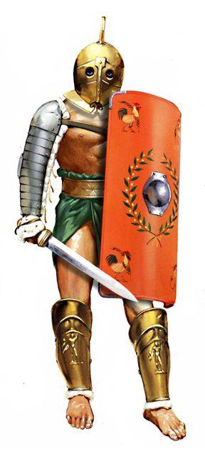 Clases de Gladiadores. Secutor