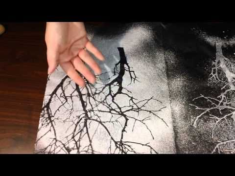 ▶ Tutorial - Custom Tissue Paper with Paint and Ink - YouTube