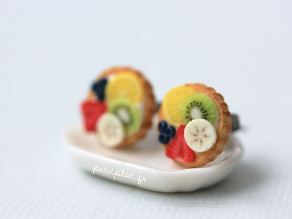 Hey, I found this really awesome Etsy listing at https://www.etsy.com/au/listing/55572346/fruit-tart-earrings-lemon-kiwi-banana