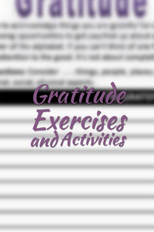 Gratitude Exercises and Activities | Counseling | Group ...