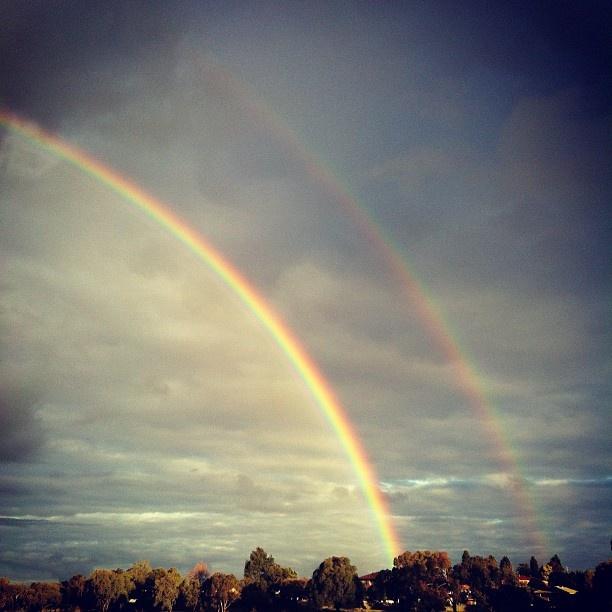 Double rainbow - @johnchiong- #webstagramDouble Rainbow