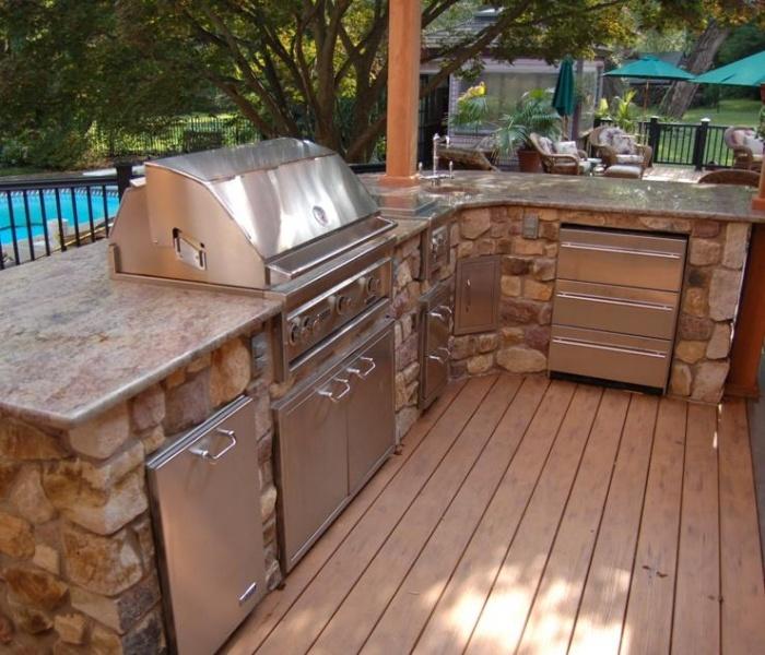 Prefab Outdoor Kitchen Island: Outdoor Project Land