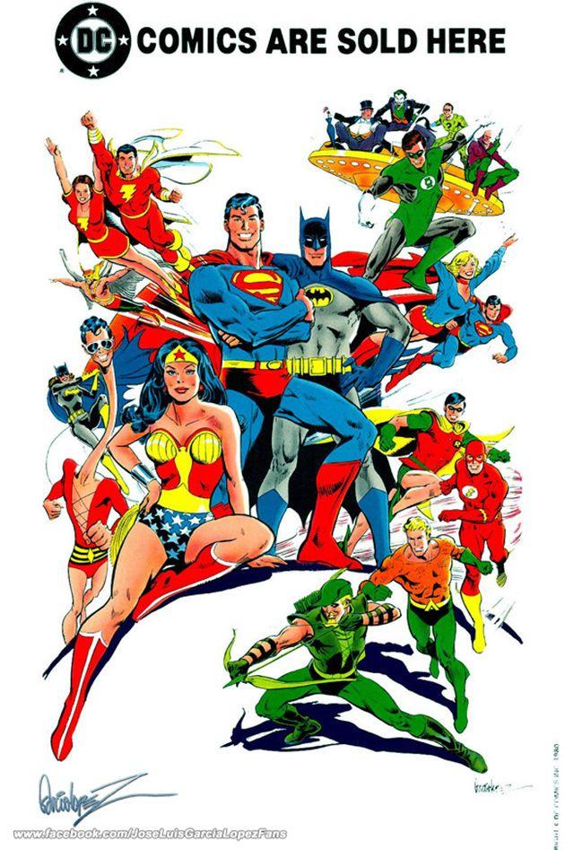 DC Comics heroes by José Luis García-López