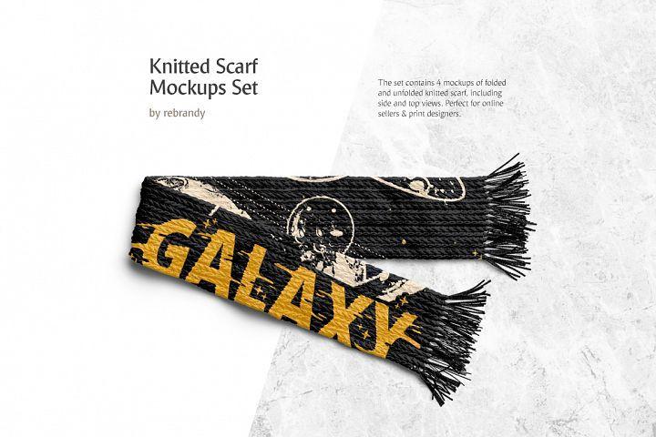 Download Knitted Scarf Mockups Set 213252 Clothing Design Bundles Design Mockup Free Free Psd Design Free Packaging Mockup