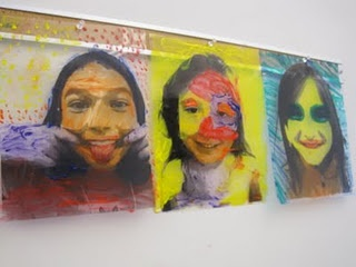 Warhol inspired self-portraits - photos, copied, and colored in different media.