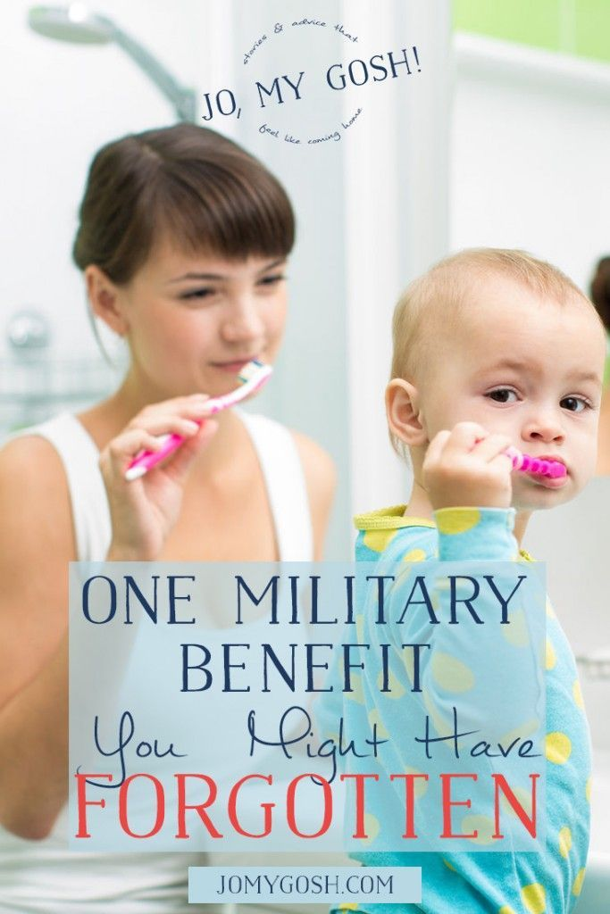 Don't forget-- military dependents have dental care benefits available to them! #metlifetdp #spon #ic