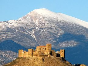 CASTLE OF SPAIN - Castle of Montearagón. The Castle of Montearagón was a fortress-monastery in Quicena, near Huesca, Aragon, Spain, built in the Romanesque style. In 1094 Sancho Ramirez reinforced the castle to help with the siege of the Muslim stronghold of Wasqah (Huesca); here he met his death by a stray arrow as he was reconnoitering the city's walls. The city was conquered in 1096 by Peter I of Aragon, after defeating the relief forces in the Battle of Alcoraz.