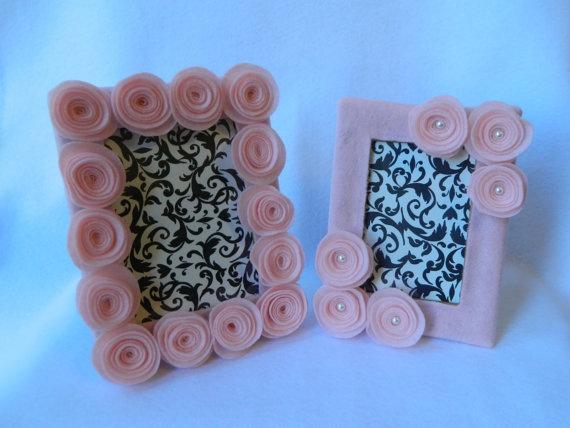 Felt flower frames - cute for baby girl pics!