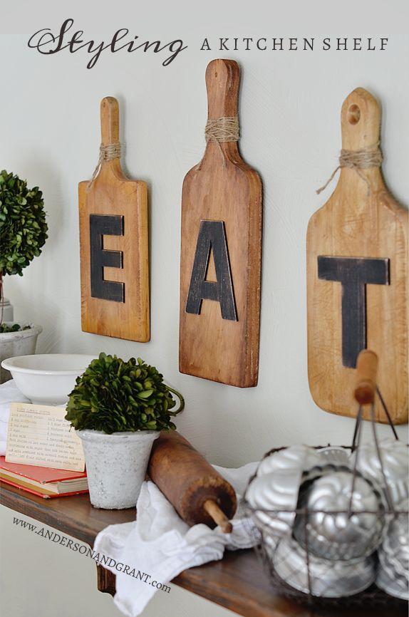 Styling a Kitchen Shelf. Vintage Kitchen Decor IdeasKitchen ...