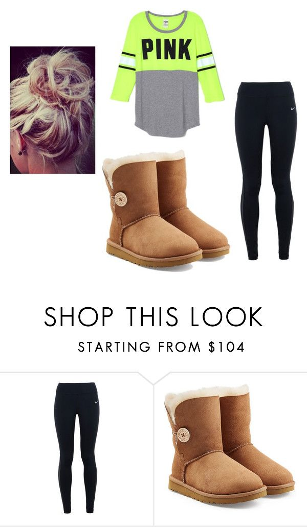 """""""Common White Girl"""" by newliisa on Polyvore featuring NIKE and UGG Australia"""